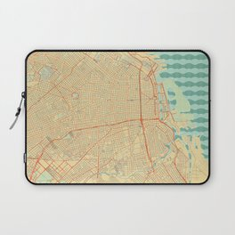 Buenos Aires Map Retro Laptop Sleeve
