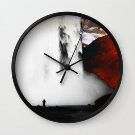 Isolation Waterfall Wall Clock