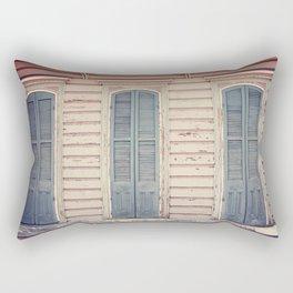 Three Shutters - New Orleans French Quarter Rectangular Pillow