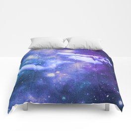 Galaxy Woman Periwinkle Purple Teal Comforters