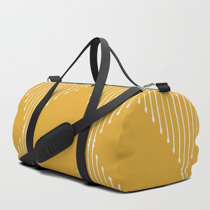 Geo / Yellow Duffle Bag