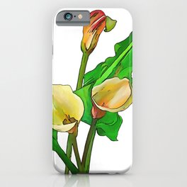 Three Calla Lilies iPhone Case