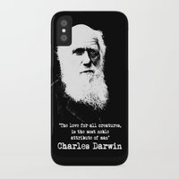 darwin iPhone & iPod Cases featuring Darwin by PsychoBudgie
