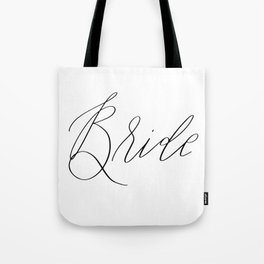 Lettered Bride Tote Bag