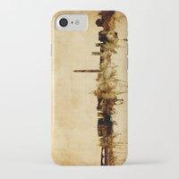 washington dc iPhone & iPod Cases featuring Washington DC Skyline by artPause