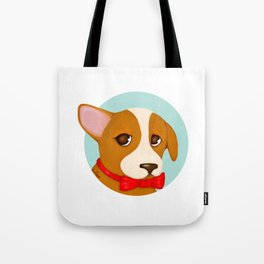 Puppy-eyed Bowie Tote Bag