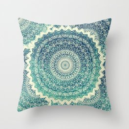BICOLOR COLD WINTER MANDALA Throw Pillow