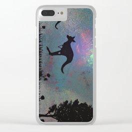 Kangaroo fun <3 Clear iPhone Case
