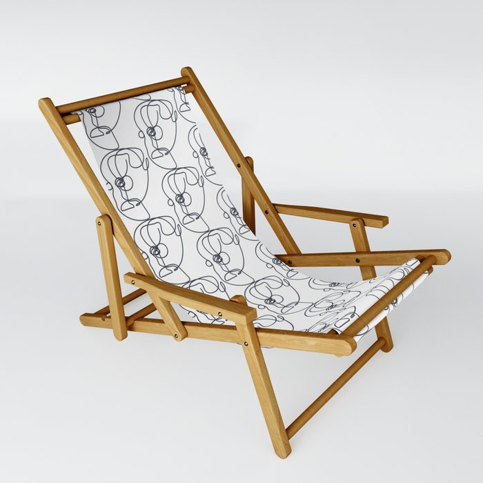 Abstract Faces Sling Chair