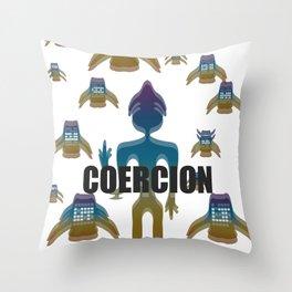 COERCION Throw Pillow