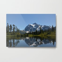 Mount Shuksan from Picture Lake Metal Print