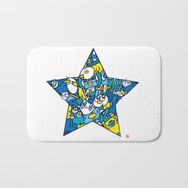 BLUE STAR Bath Mat