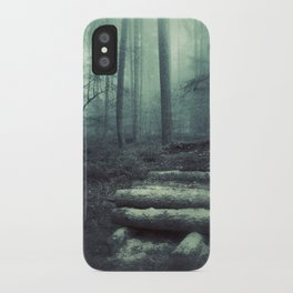 Foggy Forest Logs iPhone Case