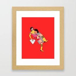 eroti print Framed Art Print