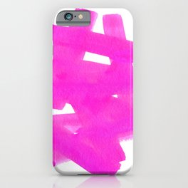 Superwatercolor Pink iPhone Case