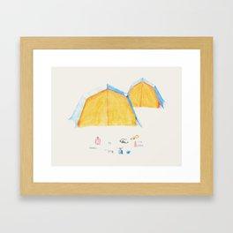Le Camping Framed Art Print