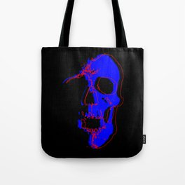 Skull - Blue Tote Bag