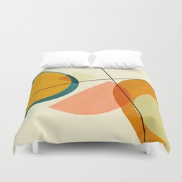 mid century geometric shapes painted abstract III Duvet Cover