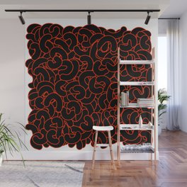 Abstract Black Nuts Wall Mural