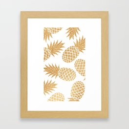 GOLD---Pineapple Framed Art Print