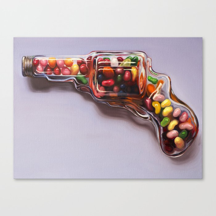 Glass Revolver Canvas Print