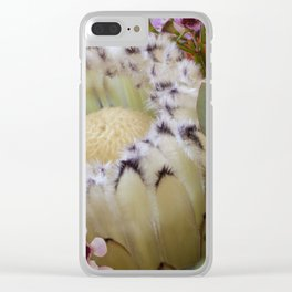 Beautiful Feather Protea Clear iPhone Case