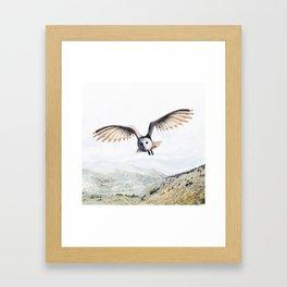 Pencil Owl Framed Art Print