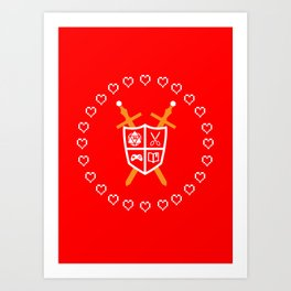 Crest of Nerdom Art Print