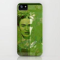 Frida Kahlo - between worlds - green iPhone (5, 5s) Slim Case