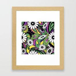 60s Daisy Paisley Framed Art Print