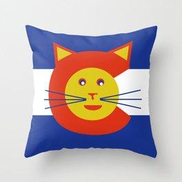 Flag of Catorado Throw Pillow