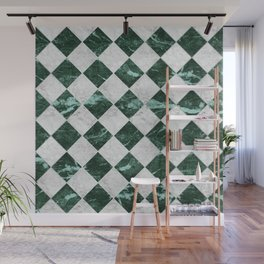Cubic - Green & White Marble #741 Wall Mural