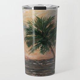 Beach Side  Oil on Canvas Travel Mug