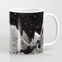View of Earth from a very rocky moon - 1911 Space Landscape Fantasy Science Fiction Landscape Astro Coffee Mug