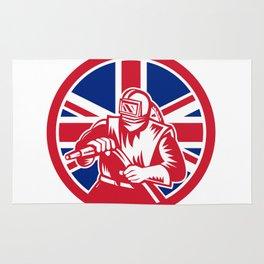 British Sandblaster Union Jack Flag Rug