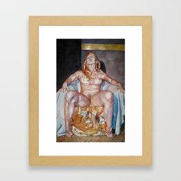 Da Golden Pedestal Framed Art Print