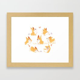 Corgi Framed Art Print