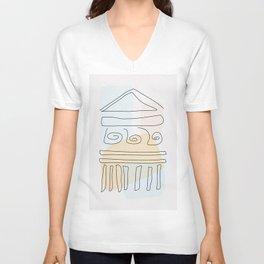 Antique Temple Unisex V-Neck