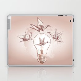Origami paper cranes and light Laptop & iPad Skin