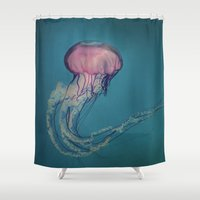 jellyfish Shower Curtains featuring Jellyfish by Pure Nature Photos
