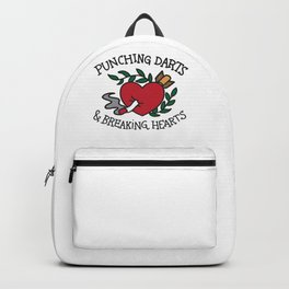 Punching Darts & Breaking Hearts Backpack