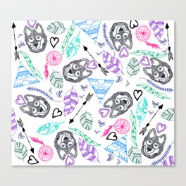 Boho style pattern Canvas Print