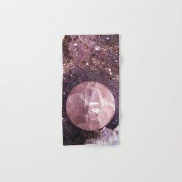 Amethyst and Pink Quartz Gemstone Hand & Bath Towel