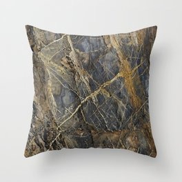 Natural Geological Pattern Rock Texture Throw Pillow