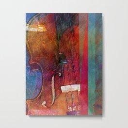 Violin Abstract One Metal Print