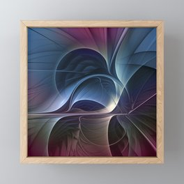 Fractal Mysterious, Colorful Abstract Art Framed Mini Art Print