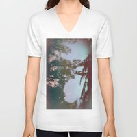 dreams V-neck T-shirts featuring Dreams by Jane Lacey Smith