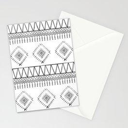 Gray Boho Aztec Stationery Cards