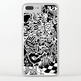 Antuan Rene Chaos style 2, Cuban chaotic art, Graphic Absurd, disorder Clear iPhone Case