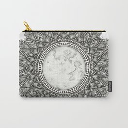 Black and White Moon Mandala Carry-All Pouch